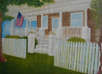 Porch Painting, Somers Point, NJ by JAM Saylor Allison