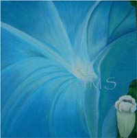 Morning Glory, a Painting by American Nature Painter, Judith A. Maddox Saylor.
