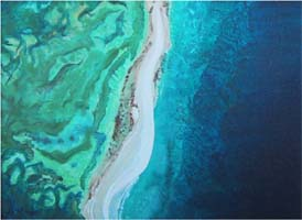 Sandbar No. 1, a painting by American Nature Painter, Judith A. Maddox Saylor at JAMS Artworks.